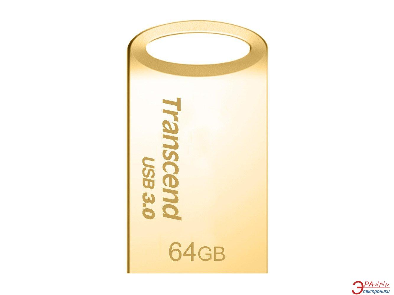 Флеш память USB 3.0 Transcend 64 Гб JetFlash 710 Metal Gold (TS64GJF710G)