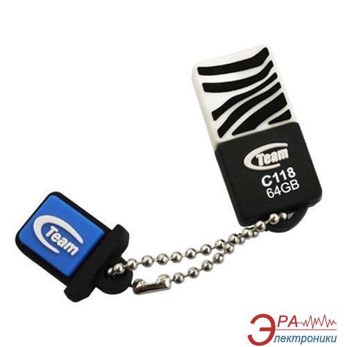 Флеш память USB 2.0 Team 64 Гб C118 Black (TC11864GB01)