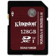 Карта памяти Kingston 128Gb SD Class 10 UHS-I U3 (SDA3/128GB)