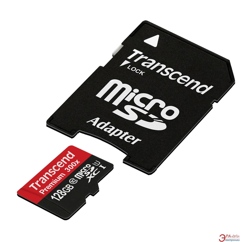 Карта памяти Transcend 128Gb microSD Class 10 UHS-I (TS128GUSDU1)