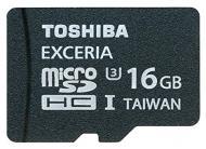 Карта памяти Toshiba 16Gb microSD Class 10 EXCERIA (SD-CX16UHS1(6A) + SD adapter