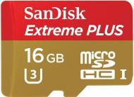 ����� ������ Sandisk 16Gb microSD Class 10 ExtremePlus UHS-I (SDSQXSG-016G-GN6MA)