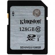 Карта памяти Kingston 128Gb SD Class 10 UHS Class 1 (SD10VG2/128GB)