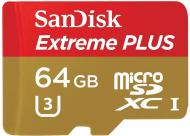 Карта памяти Sandisk 64Gb microSD Class 10 ExtremePlus UHS-I (SDSQXSG-064G-GN6MA)