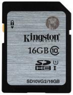 Карта памяти Kingston 16Gb SD Class 10 UHS Class 1 (SD10VG2/16GB)