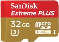Карта памяти Sandisk 32Gb microSD Class 10 ExtremePlus UHS-I (SDSQXSG-032G-GN6MA)
