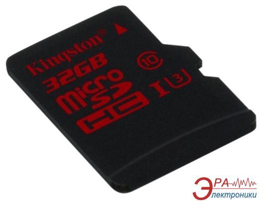 Карта памяти Kingston 32Gb microSD Class 10 UHS Class 3 (SDCA3/32GBSP)