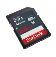 Карта памяти Sandisk 64Gb SD Class 10 UHS-I Ultra SDXC 48MB/s (SDSDUNB-064G-GN3IN)
