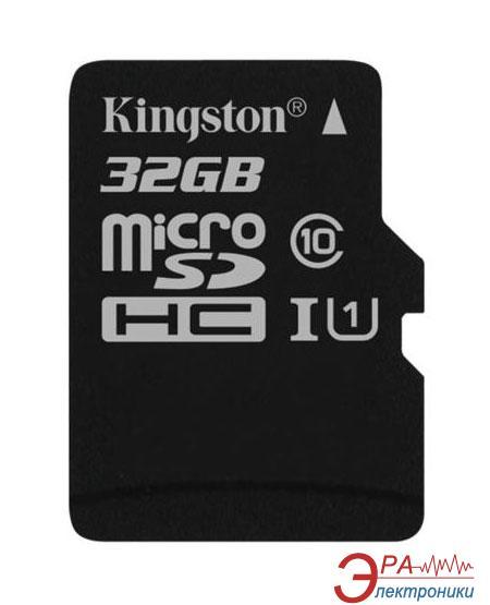 Карта памяти Kingston 32Gb microSD Class 10 UHS-I microSDHC R45/W10MB/s (SDC10G2/32GBSP)