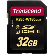 Карта памяти Transcend 32Gb SD Class 10 UHS-II U3 Ultimate SDHC R285/W180MB/s 4K Video (TS32GSD2U3)