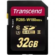 Карта памяти Transcend 32Gb SD Class 10 UHS-II U3 Ultimate SDHC R285/W180MB/s 4K Video (TS32GSD2U3)