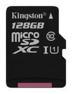 Карта памяти Kingston 128Gb microSD Class 10 UHS-I microSDXC R45/W10MB/s (SDC10G2/128GBSP)
