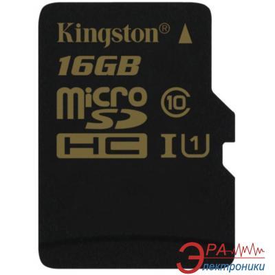 Карта памяти Kingston 16Gb microSD Class 10 UHS-I R90 W45MB/s (SDCA10/16GBSP)