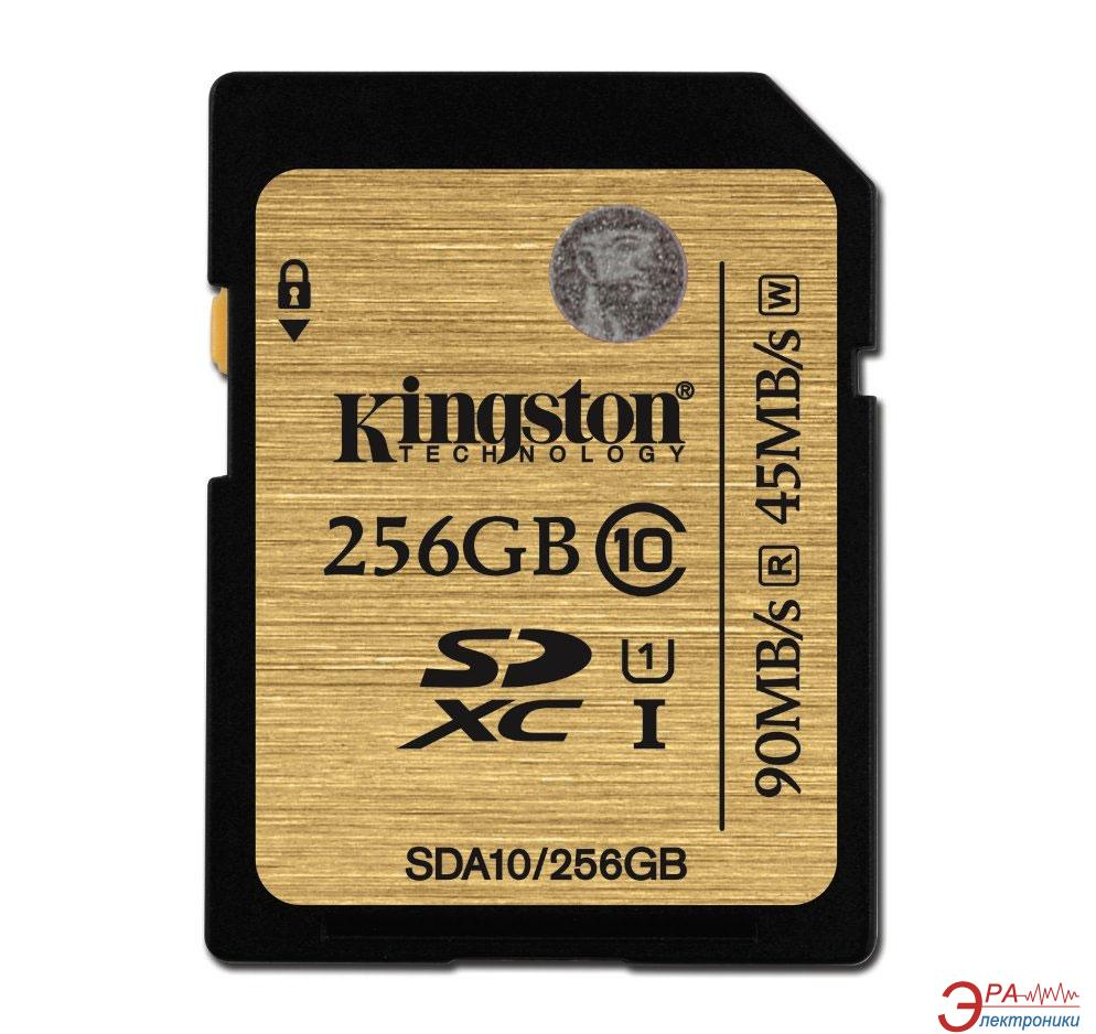 Карта памяти Kingston 256GB SD Class 10 UHS U1 SDXC (SDA10/256GB)