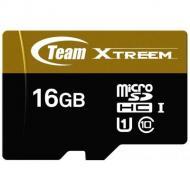 Карта памяти Team 16Gb microSD Class 10 UHS U1 microSDHC + SD adapter (TUSDH16GU9003)