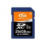 Карта памяти Team 256GB SD Class 10 UHS-I (TSDXC256GUHS01)