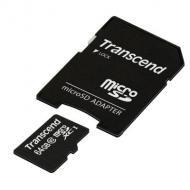 ����� ������ Transcend 64Gb microSD Class 10 + adapter (TS64GUSDXC10)
