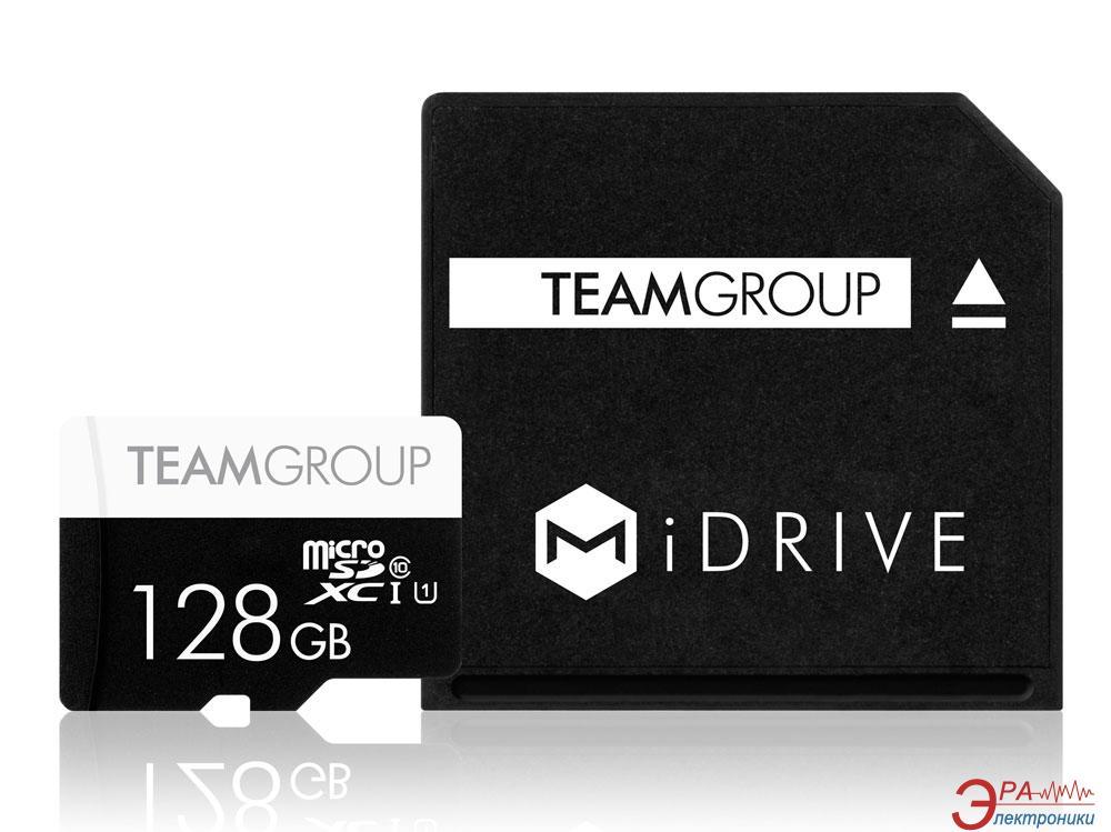 Карта памяти Team 128Gb microSD Class 10 + MiDRIVE adapter for MacBook (TUSDX128GUHS39)