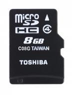 Карта памяти Toshiba 8Gb microSD Class 4 (SD-C08GJ(6)