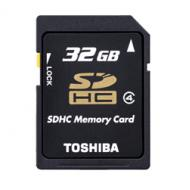 Карта памяти Toshiba 32Gb microSD Class 4 + SD adapter (THN-M102K0320M2)