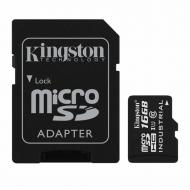 Карта памяти Kingston 16Gb microSD Class 10 UHS U1 + SD adapter (SDCIT/16GB)