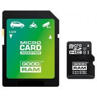Карта памяти Goodram 64Gb microSD Class 10 UHS U3 + SD adapter (M3AA-0640R11-DD)