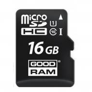 Карта памяти Goodram 16Gb microSD Class 10 UHS + SD adapter (M1AA-0160R11)