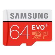 Карта памяти Samsung 64Gb microSD Class 10 UHS-I Evo Plus + SD adapter (MB-MC64DA/RU)