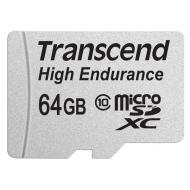 Карта памяти Transcend 64Gb microSD Class 10 High Endurance + ad (TS64GUSDXC10V)