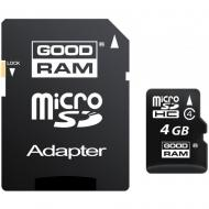 Карта памяти Goodram 4Gb microSD Class 4 + SD-adapter (M40A-0040R11)