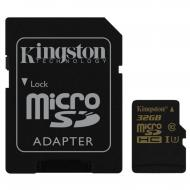 Карта памяти Kingston 32Gb microSD Class 10 UHS-I U3 + SD adapter (SDCG/32GB)