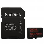 Карта памяти Sandisk 128Gb microSD Class 10 UHS-I U3 Extreme + SD adapter (SDSQXAF-128G-GN6MA)