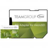 Карта памяти Team 16Gb microSD Class 10 UHS-I (TCUSDH16GUHS43)