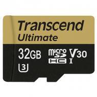 Карта памяти Transcend 32Gb microSD Class 10 UHS-I U3 MLC Ultimate (TS32GUSDU3M)