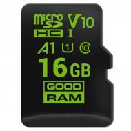 Карта памяти Goodram 16Gb microSD Class 10 UHS (M1A0-0160R11)