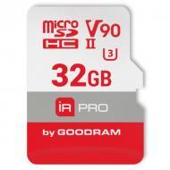Карта памяти Goodram 32Gb microSD Class 10 IRDM PRO UHS II V90 U3 (IRP-M9BA-0320R11)