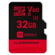 Карта памяти Goodram 32Gb microSD Class 10 IRDM UHS II V60 U3 (IR-M6BA-0320R11)