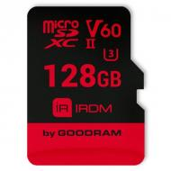 Карта памяти Goodram 128Gb microSD Class 10 UHS II V60 U3 (IR-M6BA-1280R11)