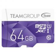 Карта памяти Team 64Gb microSD Class 10 UHS-I Purple (TCUSDX64GUHS02)