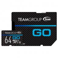 Карта памяти Team 64Gb microSD Class 10 UHS-I/U3 Go + SD-adapter (TGUSDX64GU303)