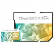 Карта памяти Team 32Gb microSD Class 10 UHS-I/U3 Team Color II + SD-adapter Green/Yellow (TCIIUSDH32GU350)