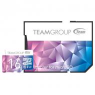 Карта памяти Team 16Gb microSD Class 10 UHS-I/U3 Team Color II + SD-adapter Purple/Blue (TCIIUSDH16GU349)