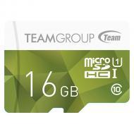 Карта памяти Team 16Gb microSD Class 10 UHS-I Color Green (TCUSDH16GUHS02)