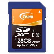 Карта памяти Team 128Gb SD Class 10 UHS-I/U3 XTreem (TSDXC128GU301)