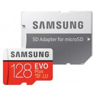 Карта памяти Samsung 128Gb SD Class 10 UHS-I U3 Evo Plus + SD adapter (MB-MC128GA/RU)