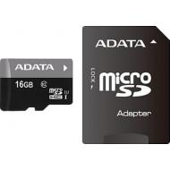 Карта памяти A-DATA 16Gb microSD Class 10 UHS-I + SD-adapter (AUSDH16GUICL10-RA1)