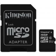 Карта памяти Kingston 16Gb microSD Class 10 UHS-I R80MB/s + SD adapter (SDCS/16GB)