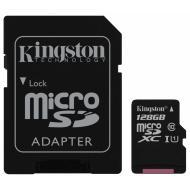 Карта памяти Kingston 128Gb microSD Class 10 UHS-I R80MB/s + SD adapter (SDCS/128GB)