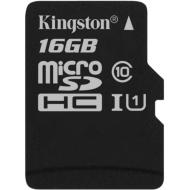 Карта памяти Kingston 16Gb microSD Class 10 UHS-I R80MB/s (SDCS/16GBSP)