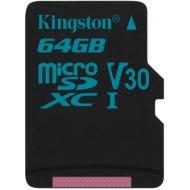 Карта памяти Kingston 64Gb microSD Class 10 UHS-I U3 R90/W45MB/s Canvas Go + adapter (SDCG2/64GB)